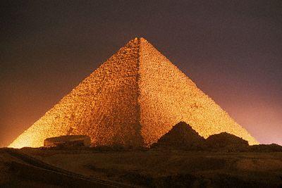 Pyramid of Cheops at Night